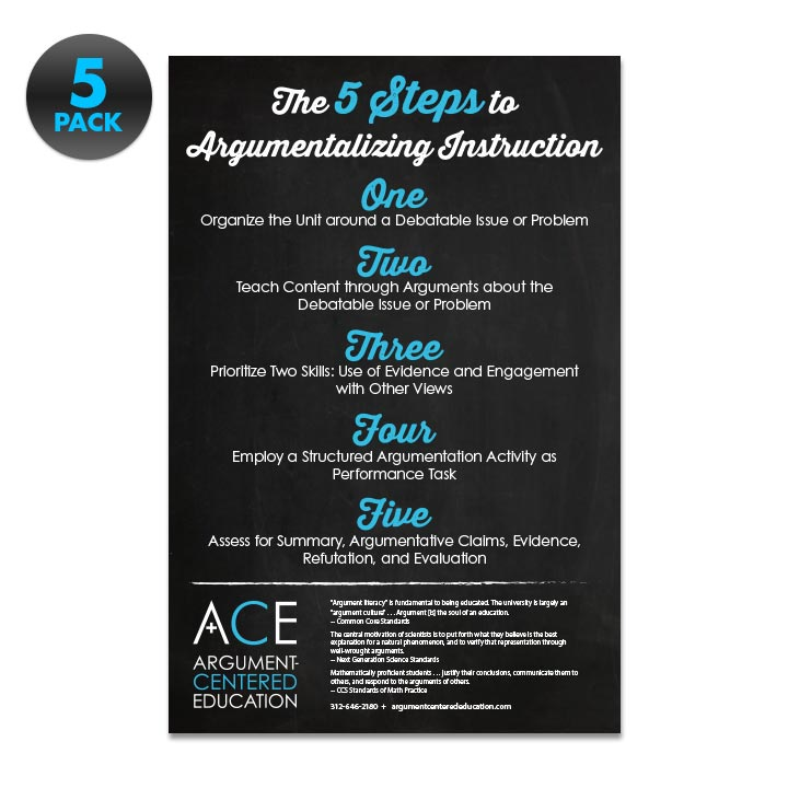 5-Pack 'Argumentalizing Instruction'  Posters