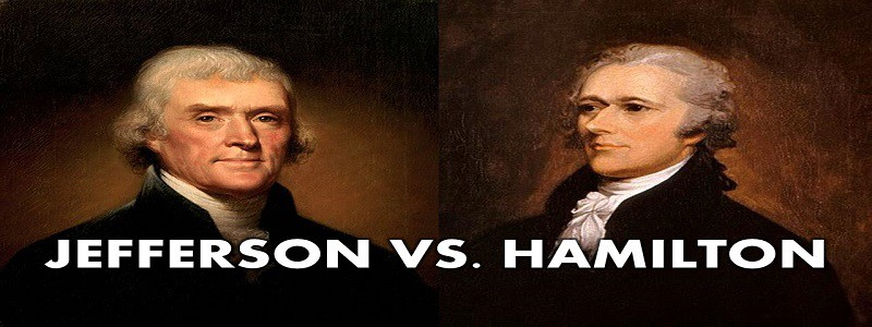 jefferson vs hamilton debate The battle over the bank: hamilton v jefferson  hamilton and jefferson debated many times over what was meant by necessary and proper  describe the debate.