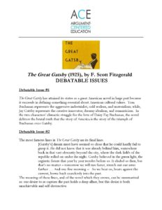 writing task great gatsby Overview the great gatsby may be the most popular classic in modern american fiction since its publication in 1925, fitzgerald's masterpiece has become a touchstone for generations of readers and writers, many of whom reread it every few years as a ritual of imaginative renewal.