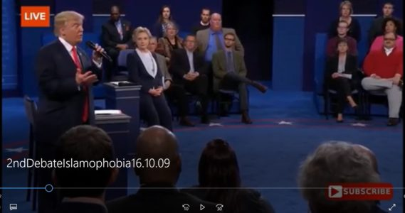 Click here for the issue clip on Islamophobia from the presidential second debate.