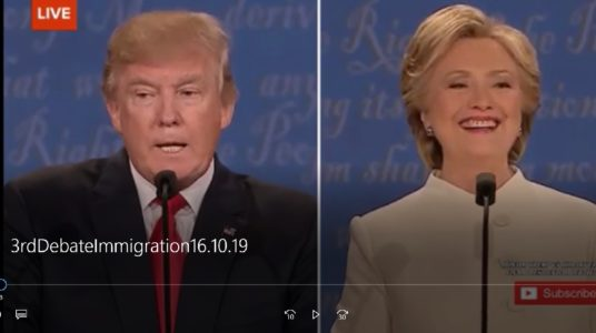 Click here for the issue clip on immigration from the third presidential debate.