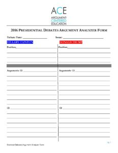 Click here to download the Argument Analyzer Form.