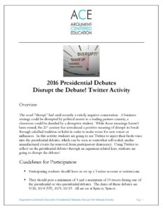 Click here to download the full Disrupt the Debate activity.
