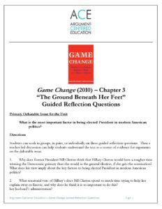 Download the full Chapter 3 Guided Reflections Questions on 'Game Change' (2012).