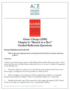Download the full Chapter 6 Guided Reflection Questions on 'Game Change' (2012).