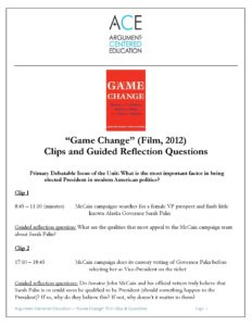 "Click here to download the ""Game Change"" film clips and Guided Reflection Questions on the film."