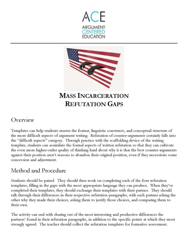 mass incarceration argument paper This paper explores whether the mass incarceration of the past few decades might have impeded progress toward poverty reduction relying on a state-level panel spanning the years 1980 to 2004, the study measures the impact of incarceration on three different poverty indexes.
