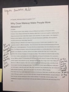 How to annotate an argumentative essay